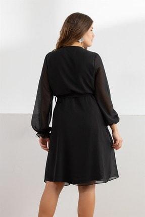 Melisita Kadın Siyah Misty Anvelop Elbise fw01965eb 3