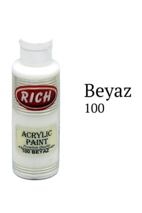 Rich Akrilik Boya 130 cc. 100 Beyaz 0