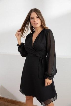 Melisita Kadın Siyah Misty Anvelop Elbise fw01965eb 1