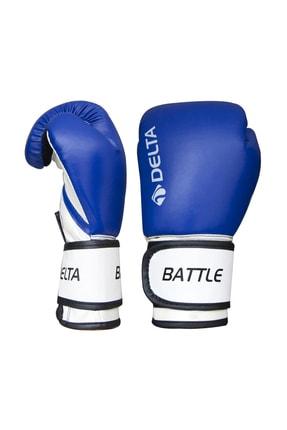 Delta Battle Dura-Strong Mavi-Beyaz Boks Eldiveni 1