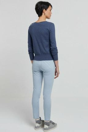 Yargıcı Kadın Buz Mavisi Cep Detaylı Pantolon 9KKPN3117X 3