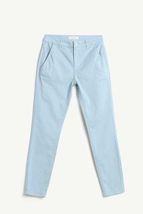 Yargıcı Kadın Buz Mavisi Cep Detaylı Pantolon 9KKPN3117X 1