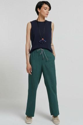 Yargıcı Kadın Yeşil Biye Detaylı Pantolon 9KKPN3128X 0