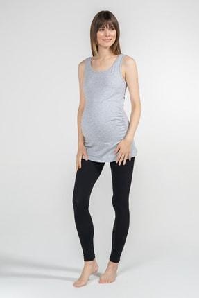 Funna Baby Atlet Yaka Hamile T-Shirt - Alda - Gri 3