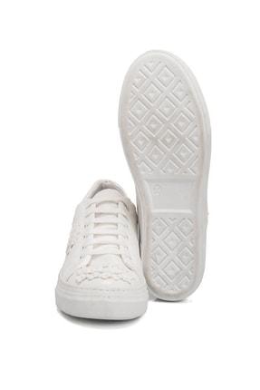 Tergan Beyaz Kadın Klasik Ayakkabı K19I1Ay64258 3