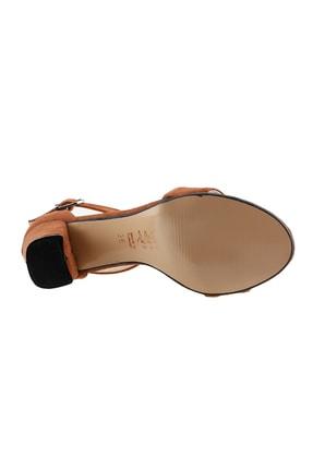 Ayakland Kahverengi Kadın Topuklu Ayakkabı  19YAYAYK0000075 4