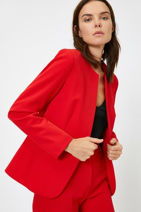 Koton Kadın Cep Detaylı Ceket 0