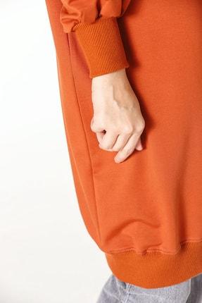 ALLDAY Kadın Kiremit Nakışlı Penye Tunik Sweatshirt P51983 3