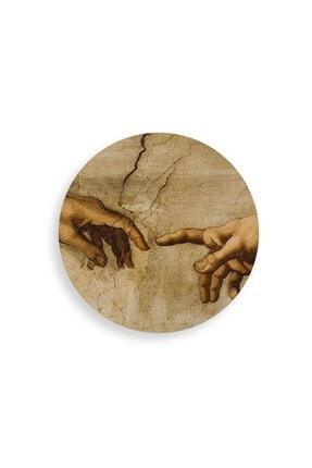 WuW Michelangelo Portre Yuvarlak Tasarım Mdf Tablo 2