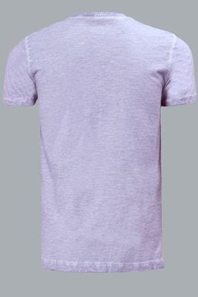Lufian Erkek Geras Basic T- Shirt Lila 111020008100870 1