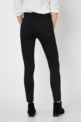 Koton Kadın Siyah Pantolon 0KAK47337DD 3