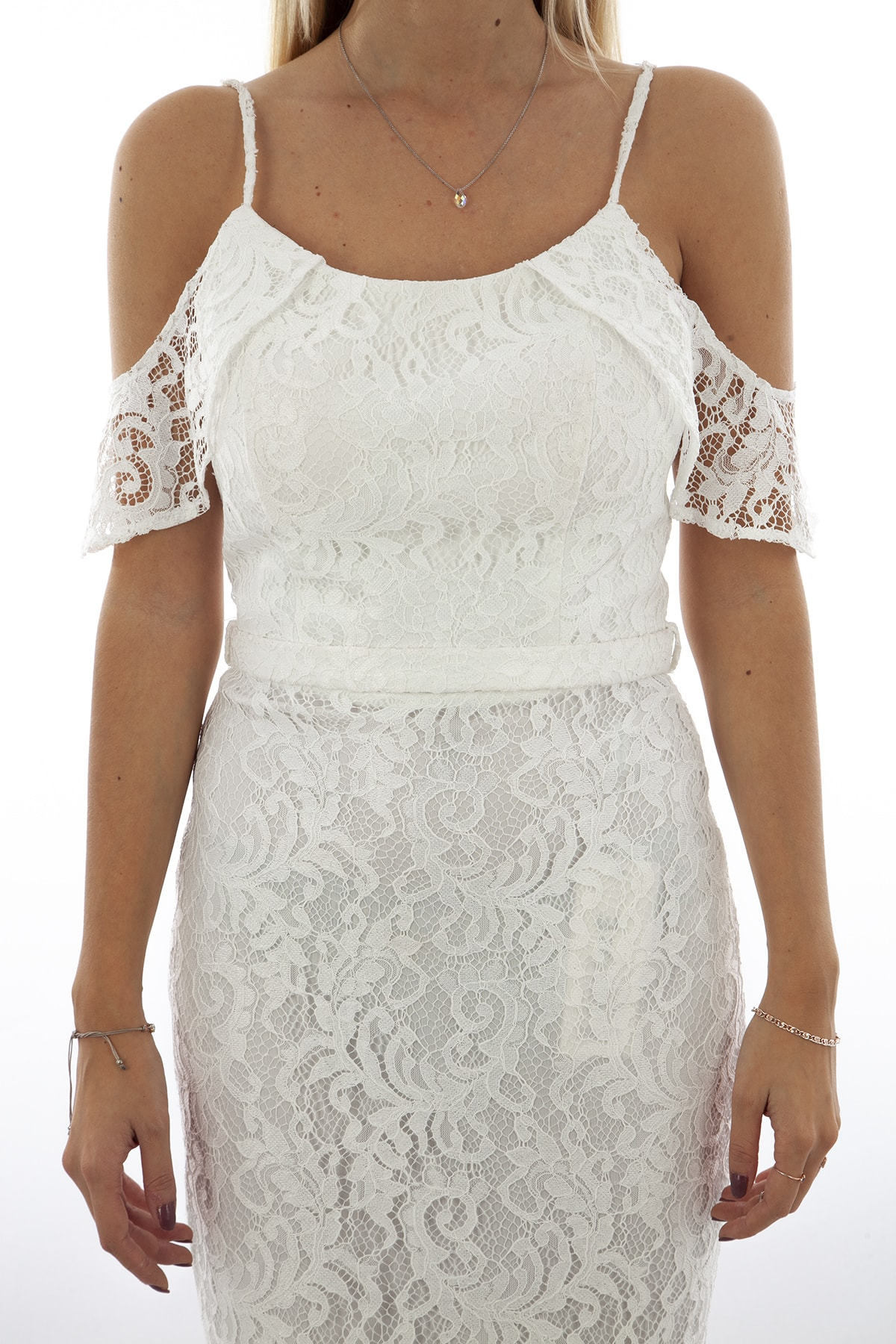 Ardanewline Kadın Ekru Elbise 130122-10 1