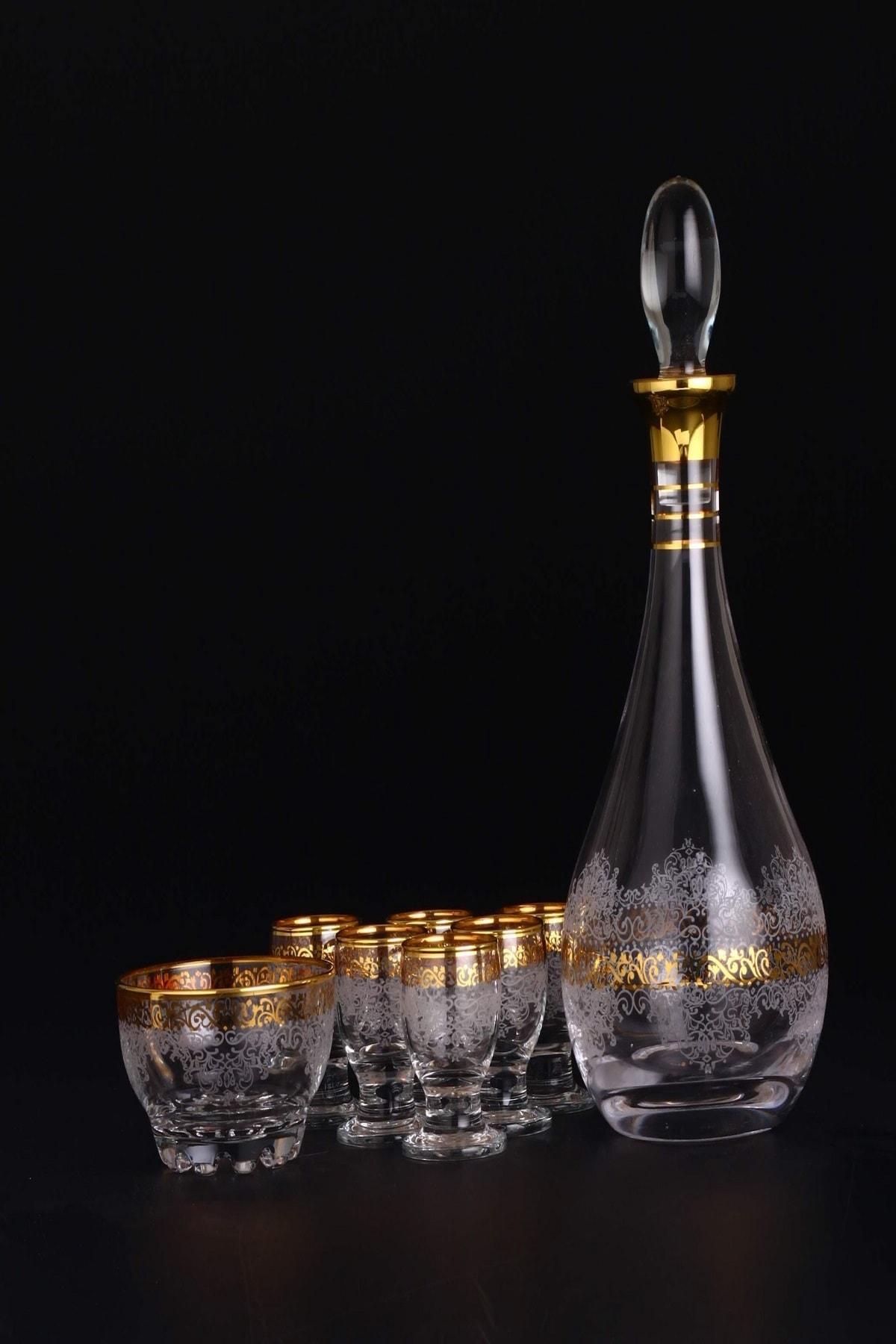 AbkaKristal 8 Parça Zemzem Takımı - Estel Altın 0