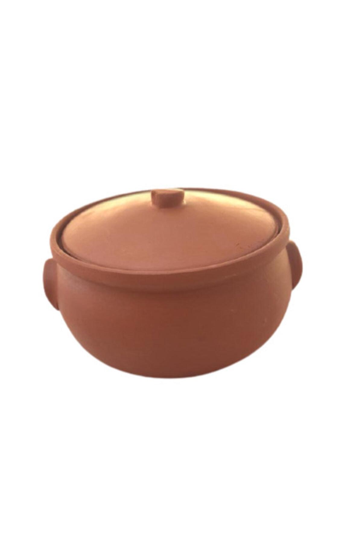 ALİ BABA CÖMLEK Pişirilmiş Kırmızı Toprak Kücük Güveç 3-4 Kişilik