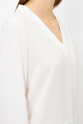 Koton Kadın Ekru Bluz 0YAK68287PW 4