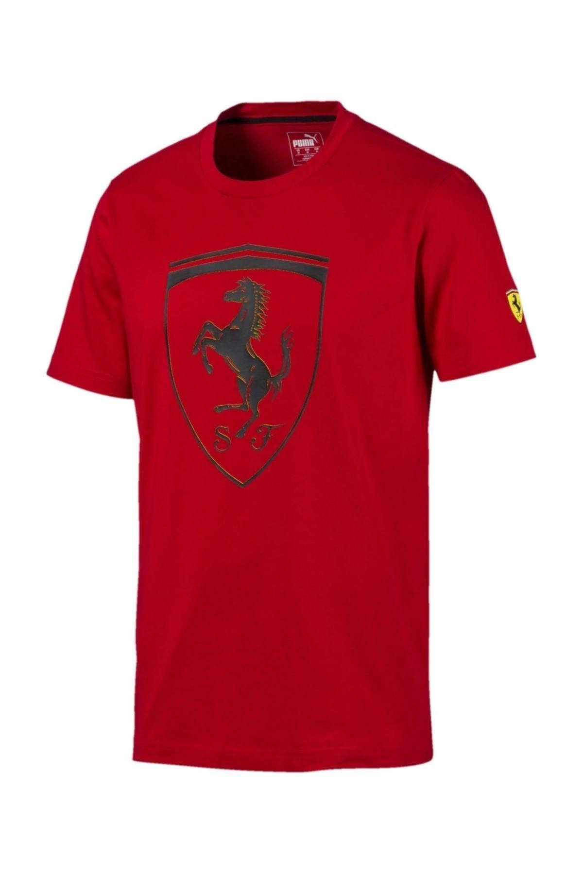 Scuderia Ferrari Big Shield Tee Erkek Tişört