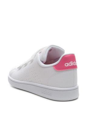 adidas ADVANTAGE Beyaz Kız Çocuk Sneaker Ayakkabı 100481652 2