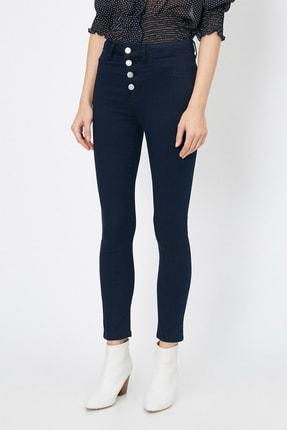 Koton Kadın Mavi Pantolon 0YAK47341DD 2