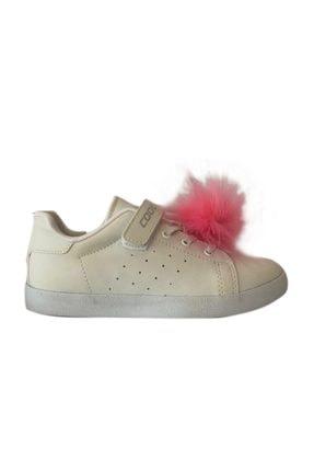 تصویر از Çocuk Beyaz Tüylü Spor Ayakkabı