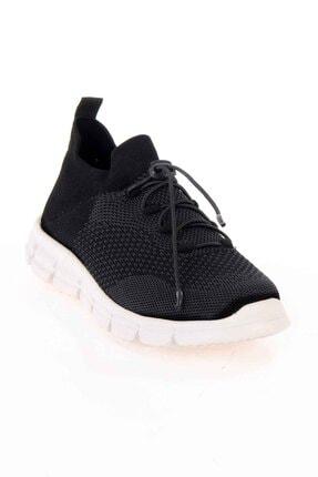 Bambi Siyah Gri Kadın Sneaker K01816027182 3