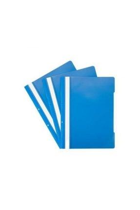 Temat Plastik Telli Dosya Mavi 50'li 0