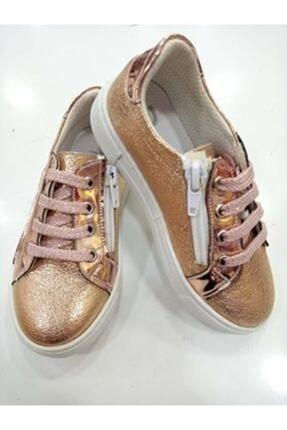 Ayakkabı Kız Çocuk Bronz Patik Vans resmi