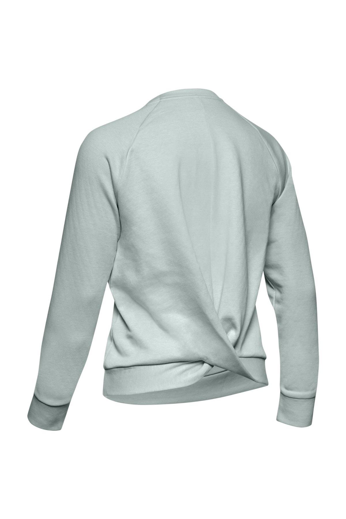 Under Armour Kadın Spor Sweatshirt - RECOVERY FLEECE SCRIPT CREW - 1344169-189