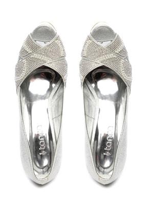 Kemal Tanca Gri Kadın Vegan Klasik Topuklu Ayakkabı 592 2310 BN AYK 3