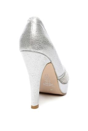 Kemal Tanca Gri Kadın Vegan Klasik Topuklu Ayakkabı 592 2310 BN AYK 2