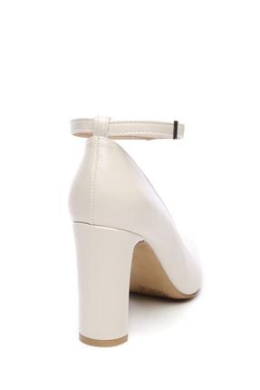 Kemal Tanca Beyaz Kadın Vegan Klasik Topuklu Ayakkabı 22 319 BN AYK 2