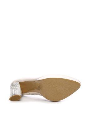 Kemal Tanca Beyaz Kadın Vegan Klasik Topuklu Ayakkabı 22 2048 BN AYK 4