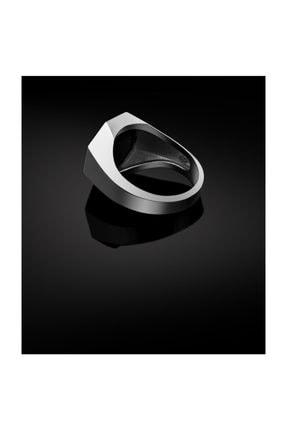 Bysilverstone Klasik Geometrik Gümüş Kurt Erkek Yüzük 2