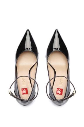 Kemal Tanca Siyah Kadın Vegan Stiletto Ayakkabı 22 2077 BN AYK 4