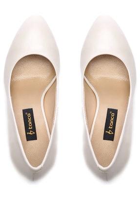 Kemal Tanca Beyaz Kadın Vegan Klasik Topuklu Ayakkabı 22 2048 BN AYK 3