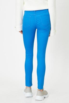 Koton Kadın Lacivert Pantolon 9YAK43550DW 3