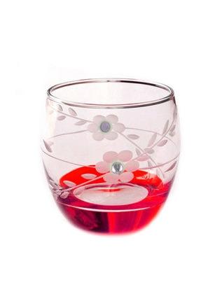 BAŞAK Paşabahçe  41010 Papatya Kırmızı Taşlı  Barel Su-meşrubat Bardağı 6 Adet 0