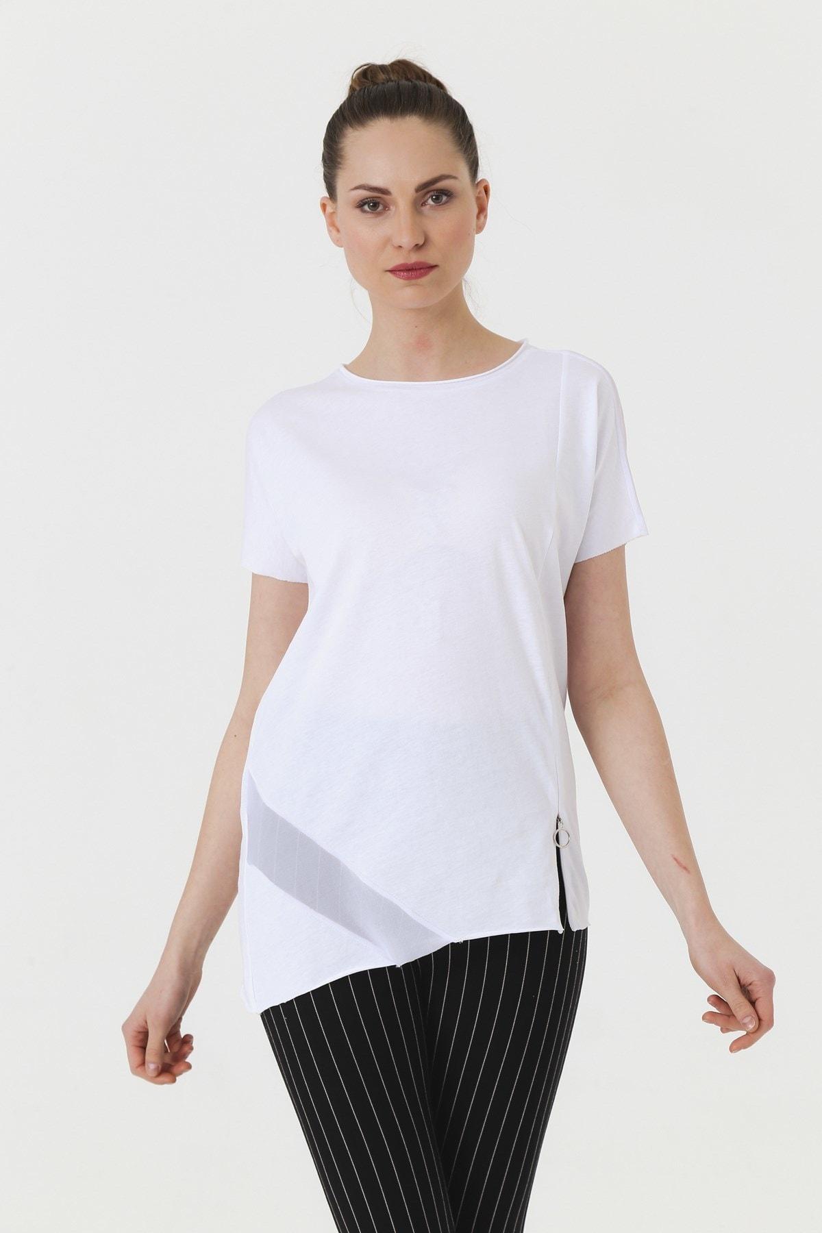 Jument Kadın Beyaz T-shirt 7095 0