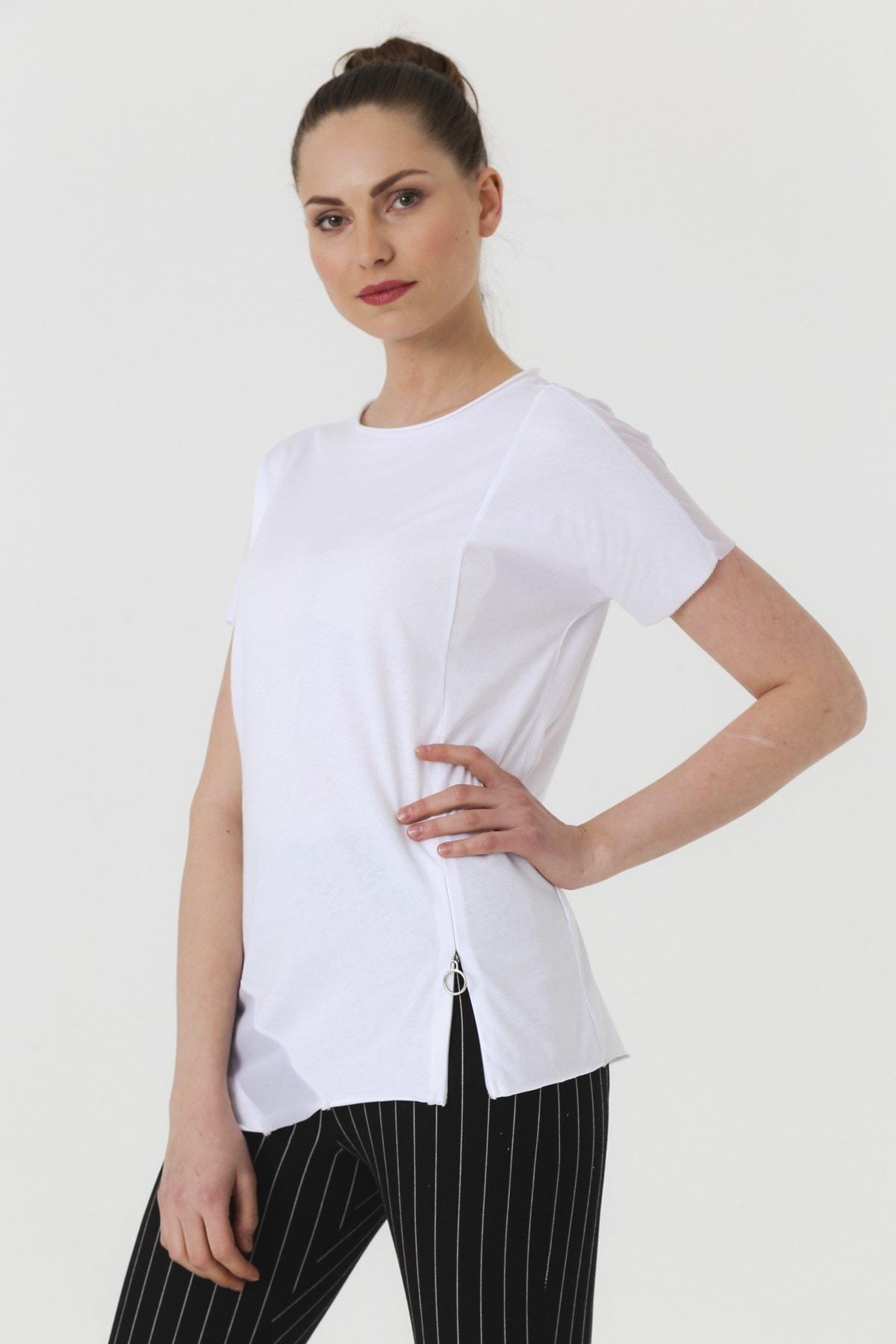 Jument Kadın Beyaz T-shirt 7095 1