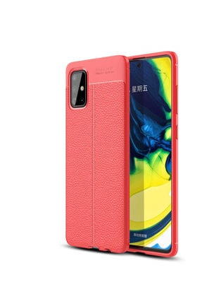 Happyshop Samsung Galaxy A51 Kılıf Deri Desenli Lux Niss Silikon 0