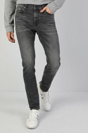 035 Ryan Yüksek Bel Dar Paça Skinny Fit Gri Erkek Jean Pantolon resmi