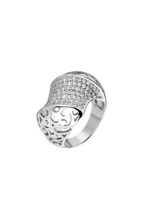 Tesbihane 925 Ayar Gümüş Zirkon Taş İşlemeli Özel Tasarım Bayan Yüzük 102001339 1