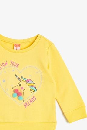 Koton Sarı Kız Bebek Sweatshirt 2