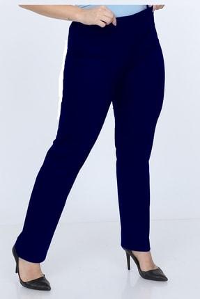 Gül Moda Büyük Beden Beli Lastikli Pantolon Lacivert 1