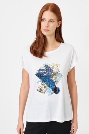 Koton Kadın Beyaz T-Shirt 0YAK13992EK 0