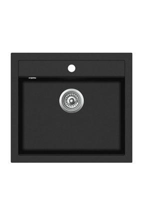 Vıvıano | | 1 Göz 51x56 Cm Siyah Granit Evye Sifon 2