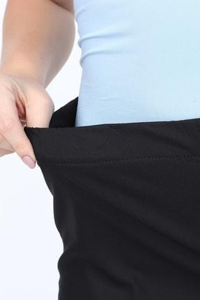 Gül Moda Büyük Beden Siyah Beli Lastikli Pantolon 2