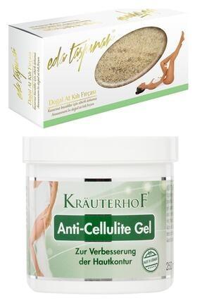 Krauterhof Anti Cellulite Gel Selülit Jeli 250 Ml + Eda Taspinar Doğal At Kılı Fırçası 0