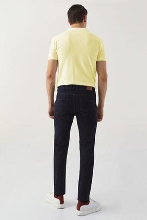 D'S Damat Erkek Lacivert Slim Fit Düz Denim Pantolon 3