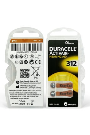 Duracell Activair 312 Numara Işitme Cihazı Pili 6x10 (60 Adet) 2