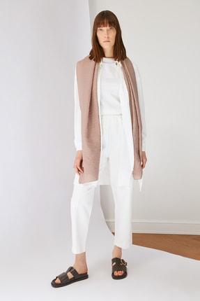 Trendyol Modest Beyaz Beli Lastikli Pantolon TCTSS21PL0570 2